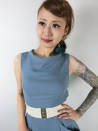 他の写真2: ☆Collectif ☆TARA PLAIN DRESS Blue 7号