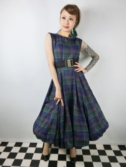 画像2: ☆Collectif ☆ASTRID SCOTTY CHECK DRESS 13号