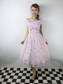 画像1: ☆Collectif Vintage☆DOROTHY FLORAL ROSE SWING DRESS Pink 7号