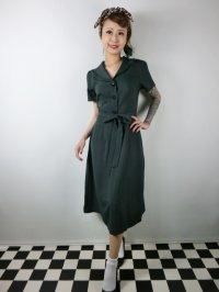 ☆Collectif☆HATTIE 40S FLARED DRESS Green 17号