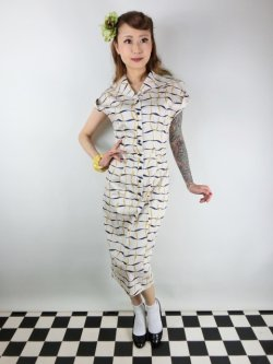 画像2: ☆Collectif☆ JUDY RIBBON CHECK PENCIL DRESS Ivory 9号