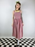 ☆Collectif☆IRIS STRAWBERRY GINGHAM DRESS 9号