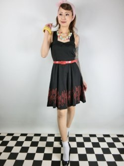 画像2: SOURPUSS☆FLAMES VERONICA SWING DRESS(M)13号