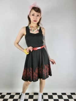 画像1: SOURPUSS☆FLAMES VERONICA SWING DRESS(M)13号