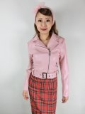 ☆H&R☆Pink Lady Faux Leather Jacket 11号