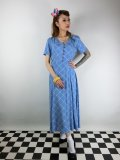 ☆Collectif☆DAISY HARLEQUIN CHECK DRESS Blue 15号