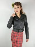 ☆H&R☆Ebony Lady Faux Leather Jacket Black 11号