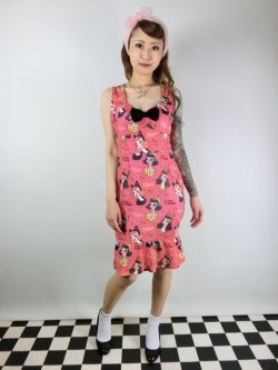 画像2: SOURPUSS☆VINTAGE VIXENS WIGGLE DRESS(S)9号