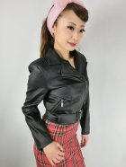 他の写真2: ☆H&R☆Ebony Lady Faux Leather Jacket Black 15号