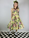 ☆HELL BUNNY☆Kalani 50s Dress Yellow(XS)9号