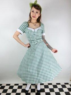 画像2: ☆Collectif☆ROBERTA GINGHAM SWING DRESS Green 7号