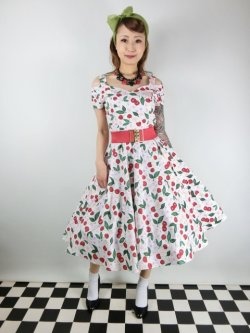 画像2: ☆HELL BUNNY☆Yvette Cherry 50s Dress(M)13号
