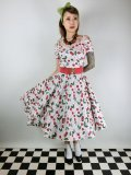 ☆HELL BUNNY☆Yvette Cherry 50s Dress(M)13号
