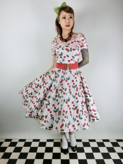 画像1: ☆HELL BUNNY☆Yvette Cherry 50s Dress(M)13号