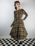 ☆Collectif☆ARWEN MOSSHILL CHECK SWING DRESS Brown 15号