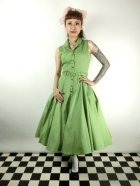 他の写真1: ☆Collectif☆CATERINA SLEEVELESS SWING DRESS Green 11号
