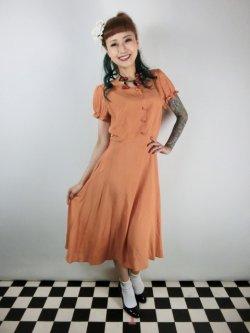 画像2: ☆Collectif☆MISTY PLAIN SWING DRESS Orange 13号