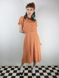 ☆Collectif☆MISTY PLAIN SWING DRESS Orange 17号