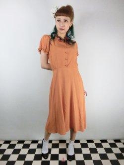 画像1: ☆Collectif☆MISTY PLAIN SWING DRESS Orange 13号