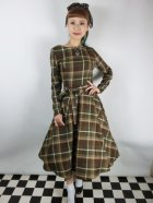他の写真1: ☆Collectif☆ARWEN MOSSHILL CHECK SWING DRESS Brown 13号