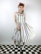他の写真1: ☆Collectif☆CANDICE STRAWBERRY STRIPED SWING DRESS 9号