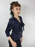 他の写真2: ☆Collectif☆ ANDRA PLAIN BLOUSE Navy 7号