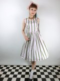 ☆Collectif☆CANDICE STRAWBERRY STRIPED SWING DRESS 7号