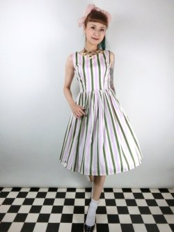 画像1: ☆Collectif☆CANDICE STRAWBERRY STRIPED SWING DRESS 9号