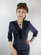 他の写真1: ☆Collectif☆ ANDRA PLAIN BLOUSE Navy 7号