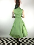 他の写真3: ☆Collectif☆CATERINA SLEEVELESS SWING DRESS Green 7号