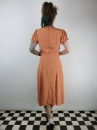 他の写真3: ☆Collectif☆MISTY PLAIN SWING DRESS Orange 13号