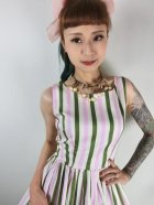 他の写真2: ☆Collectif☆CANDICE STRAWBERRY STRIPED SWING DRESS 15号