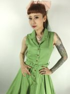 他の写真2: ☆Collectif☆CATERINA SLEEVELESS SWING DRESS Green 7号