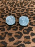 ☆Freddies of Pinewood☆Confetti Lucite Earrings Turquoise