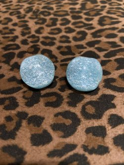 画像1: ☆Freddies of Pinewood☆Confetti Lucite Earrings Turquoise