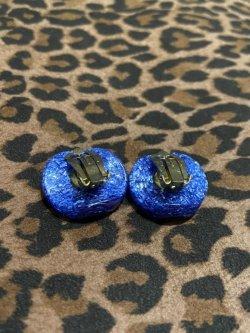 画像2: ☆Freddies of Pinewood☆Confetti Lucite Earrings Navy