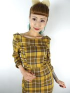 他の写真2: ☆Collectif☆CHEYENNE MOONHILL CHECK PENCIL DRESS Mustard 9号