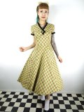 ☆Collectif☆MEREDY HOLIDAY CHECK FLARED DRESS Multicoloured 15号