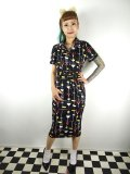 ☆Collectif☆ CATERINA 50S ATOMIC PENCIL DRESS Black 15号