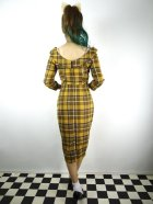 他の写真3: ☆Collectif☆CHEYENNE MOONHILL CHECK PENCIL DRESS Mustard 17号