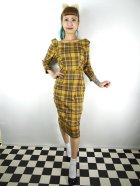他の写真1: ☆Collectif☆CHEYENNE MOONHILL CHECK PENCIL DRESS Mustard 17号