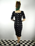 他の写真3: ☆Collectif☆ DOLORES H/S CRAZY POLKA PENCIL DRESS Black 9号