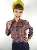 ☆Freddies of Pinewood☆Grey Plaid Shirt-jac (UK12) 13号