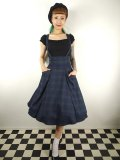 ☆Collectif☆ALEXA BLACKWATCH CHECK SWING SKIRT 7号