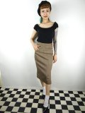 ☆COLLECTIF☆ SLOAN HERRINGBONE PENCIL SKIRT Brown 9号