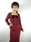 ☆COLLECTIF☆AGATHA PLAIN JACKET Burgundy 13号