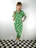 ☆Collectif☆CATERINA PAINTED POLKA PENCIL DRES  Green 13号