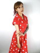 他の写真2: ☆Collectif☆JUDY PAINTED POLKA DRESS Red 13号