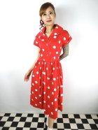 他の写真1: ☆Collectif☆JUDY PAINTED POLKA DRESS Red 13号