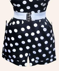 画像3: Vivien of Holloway Black White Dot Shorts Size12(9号)